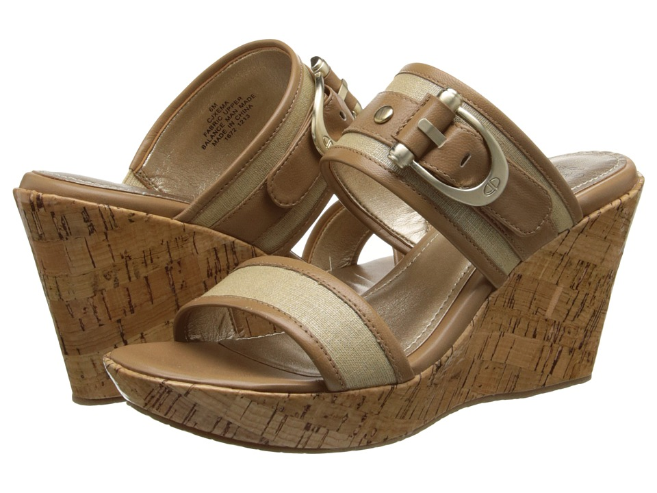 Circa Joan & David - Xema (Natural/Kenya Fabric) Women's Slide Shoes
