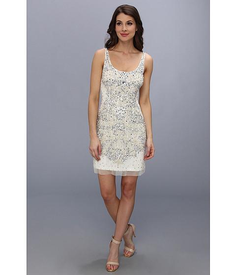 Adrianna Papell - Short Bead Tank Dress (Ivory) Women