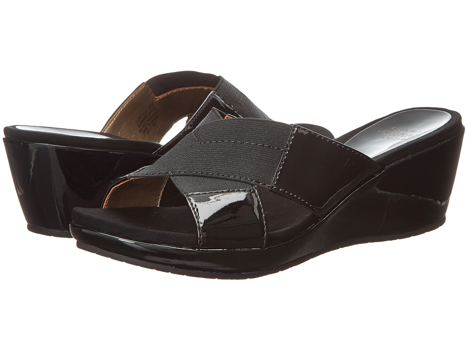 Circa Joan & David - Petria (Black/Black) Women's Slide Shoes
