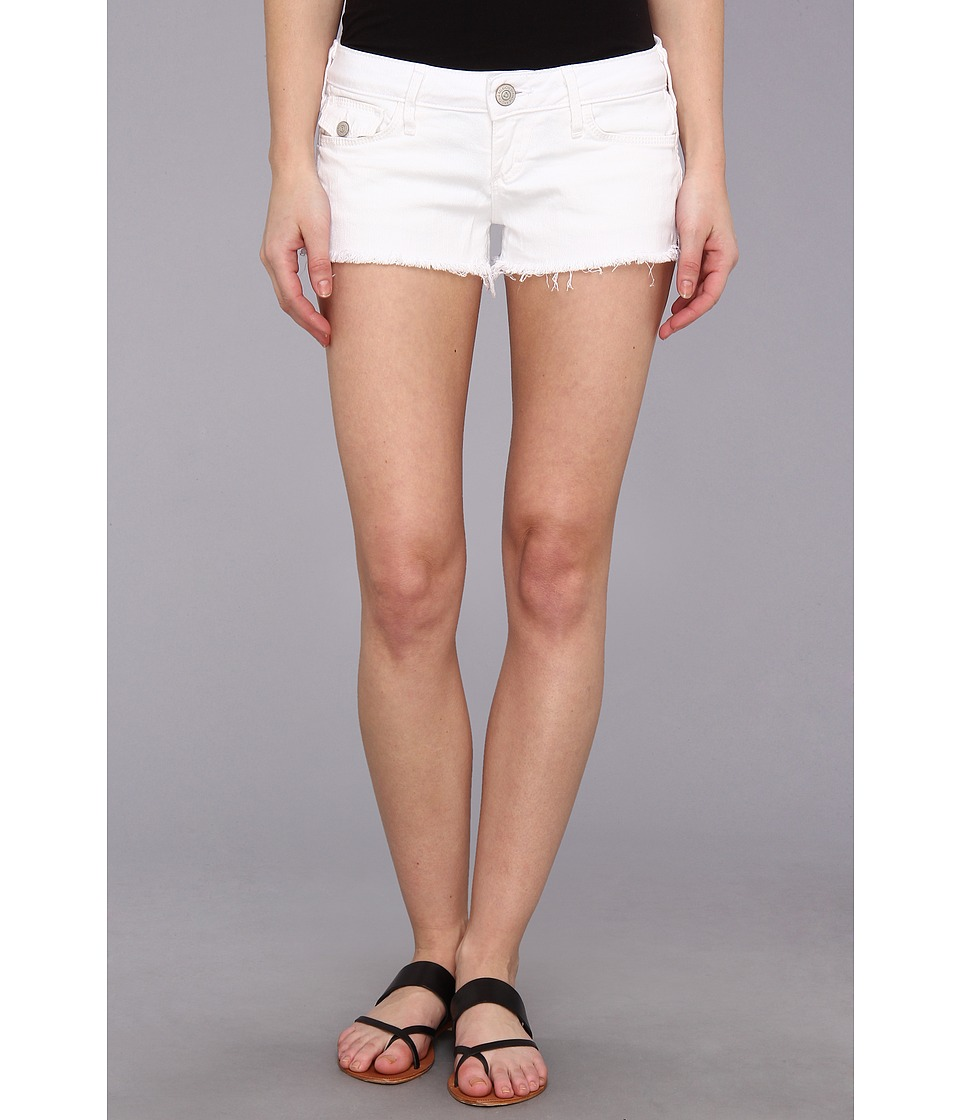 True Religion - Joey Low-Rise Cut-Off Short in Optic White (Optic White) Women's Shorts