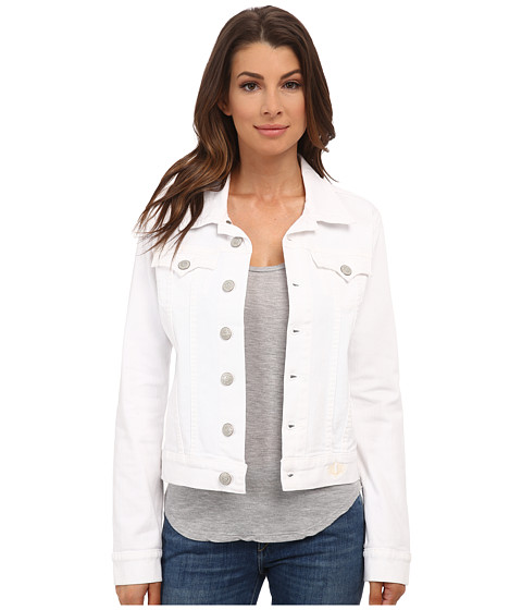 True Religion - Dusty Western Fitted Jacket (09 Optic White Jasmine) Women