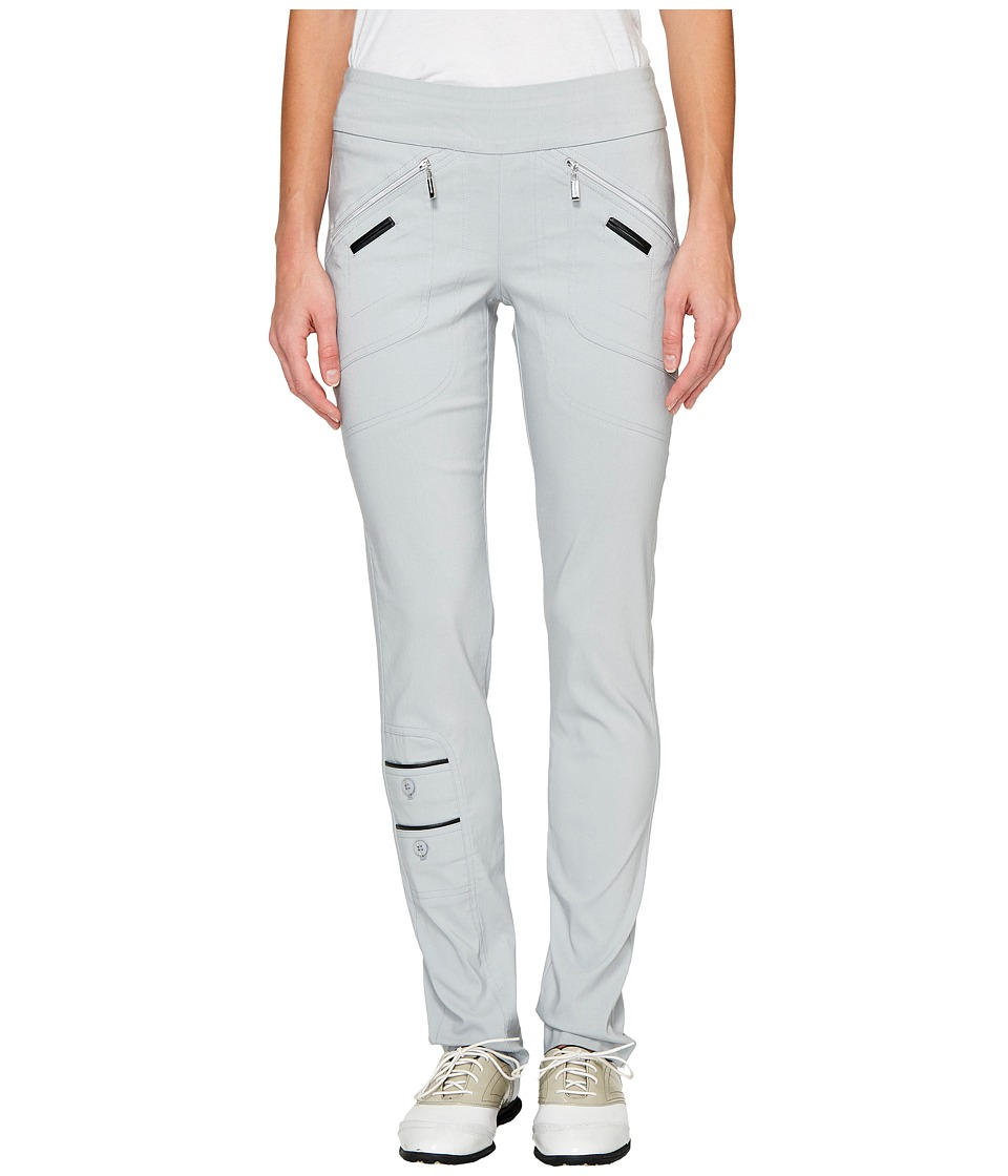 Jamie Sadock - Skinnylicious 41.5 in. Pant with Control Top Mesh Panel (Chrome Grey) Women's Casual Pants