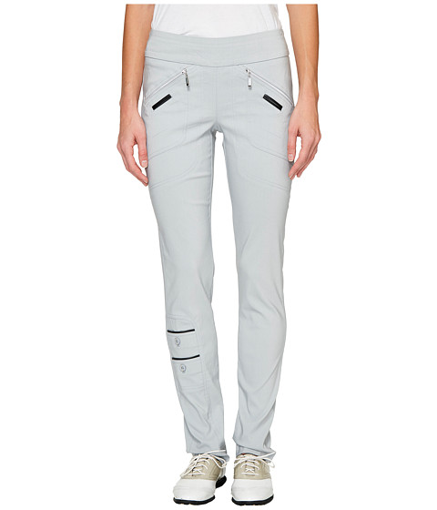 Jamie Sadock - Skinnylicious 41.5 in. Pant with Control Top Mesh Panel (Chrome Grey) Women