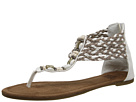 MUK LUKS Sierra Beaded Sandal (Off White)