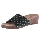 MUK LUKS Lea Slide Wedge (Black with Turquoise Dots)