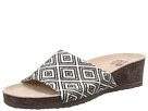 MUK LUKS Lea Slide Wedge (Black)