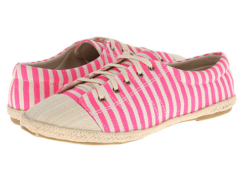 MUK LUKS - Paige Tie Shoe (Pink Stripe) Women's Shoes