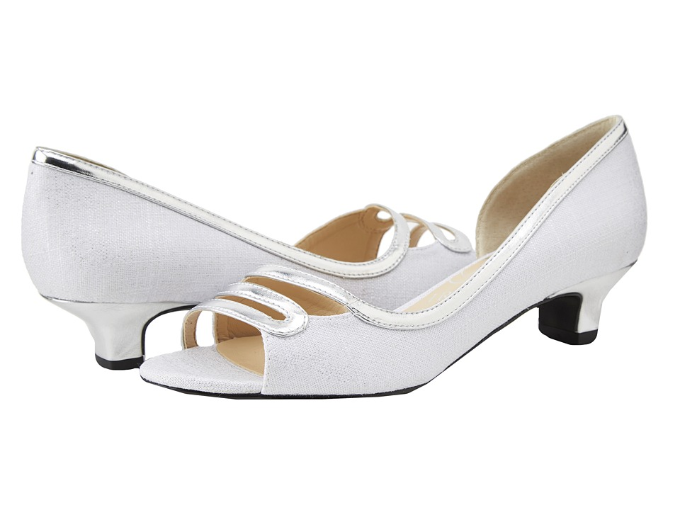 J. Renee - April (White/Silver) Women's Shoes