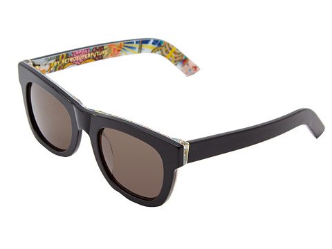 Super - Ciccio Lost (Black/Motorpsycho Lost Print) Fashion Sunglasses