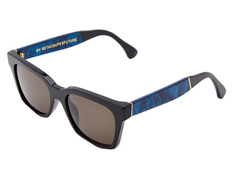 Super - America Supremo (Black/Blue Marble) Fashion Sunglasses