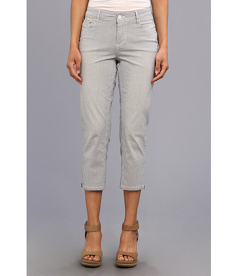 Christopher Blue - Chloe Crop w/ Zipper Railroad Stripe (Honeydew Wash) Women's Jeans