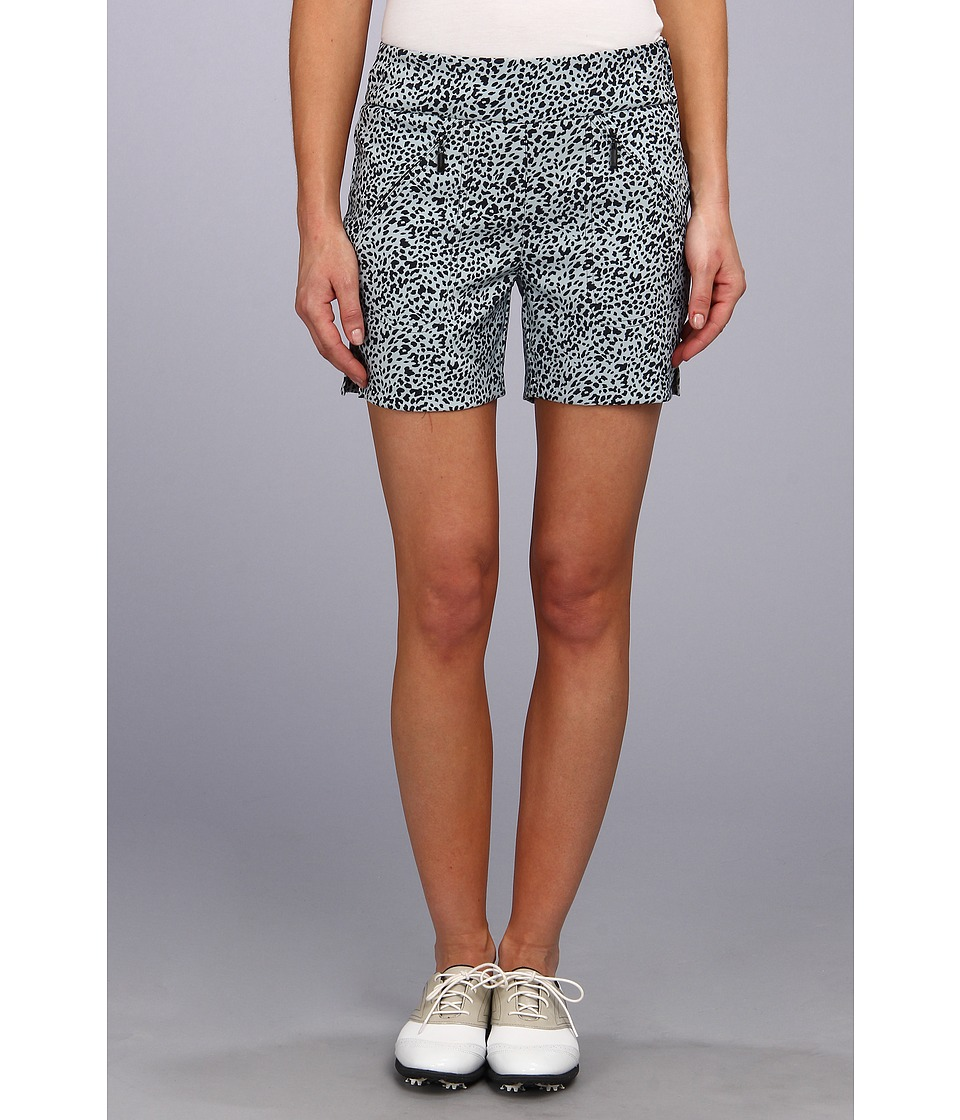 Jamie Sadock - Skinnylicious 15 in. Short with Control Top Mesh Panel (Glacier Ocelot Print) Women's Shorts