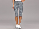 Jamie Sadock Skinnylicious 24 in. Knee Capri with Control Top Mesh Panel (Glacier Ocelot Print)