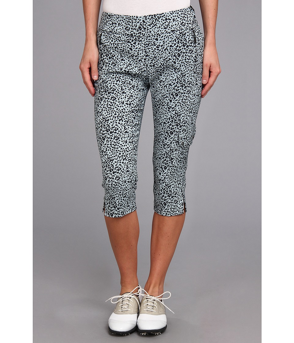 Jamie Sadock - Skinnylicious 28.5 in. Pedal Pusher with Control Top Mesh Panel (Glacier Ocelot Print) Women's Casual Pants