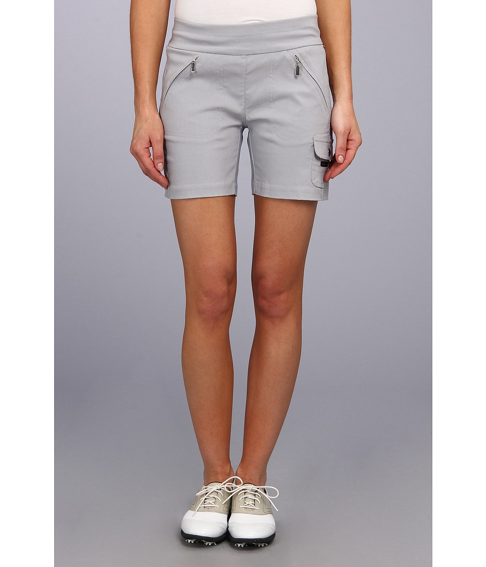 Jamie Sadock - Skinnylicious 15 in. Short with Control Top Mesh Panel (Chrome Grey) Women's Shorts