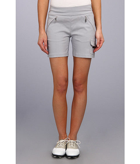Jamie Sadock - Skinnylicious 15 in. Short with Control Top Mesh Panel (Chrome Grey) Women