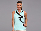 Jamie Sadock Tina Textured Sleeveless Top with a Drop Tail Back (Gossamer)
