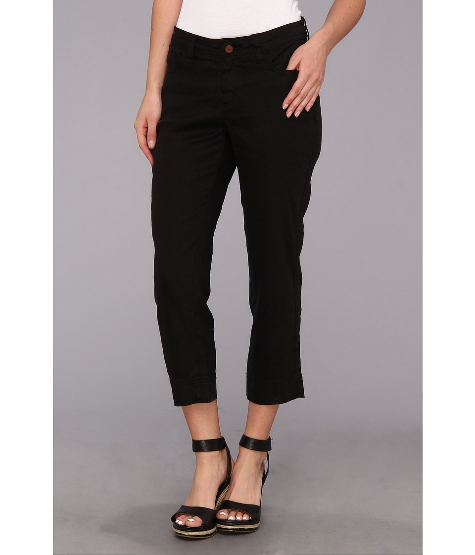 Christopher Blue - Chloe Crop Monaco Linen (Black) Women's Casual Pants