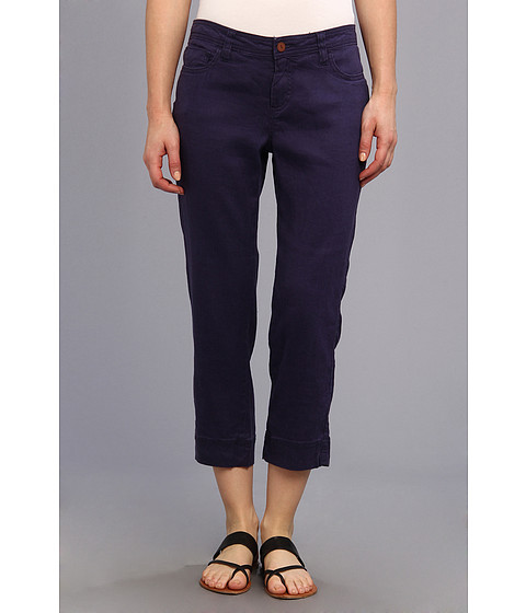 Christopher Blue - Chloe Crop Monaco Linen (Oxford Blue) Women