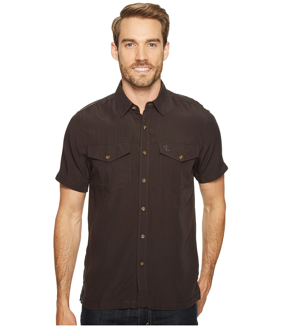 Fjallraven - Abisko Vent Shirt S/S (Dark Grey) Men's Short Sleeve Button Up
