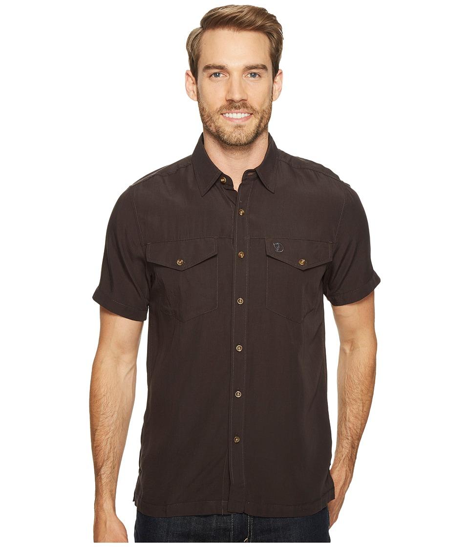 Fjallraven - Abisko Vent Shirt S/S (Dark Grey) Men's Short Sleeve Button Up