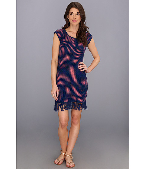 Trina Turk - Vera Cruz Dress (Navy Chalk) Women's Dress