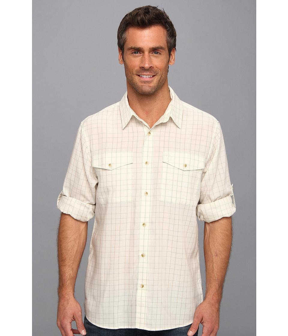 Fj llr ven - Abisko Cool Shirt L/S (Light Beige) Men's Long Sleeve Button Up