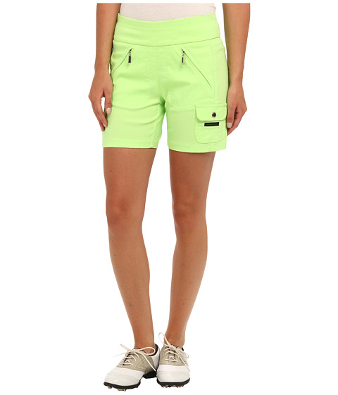 Jamie Sadock - Skinnylicious 15 in. Short with Control Top Mesh Panel (Fizz Green) Women's Shorts