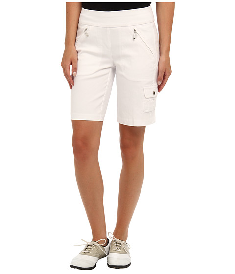 Jamie Sadock - Skinnylicious Mesh Control Top Panel 19 in. Short (Pure White) Women's Shorts