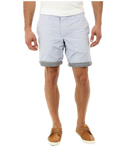 French Connection - Reversible Shirting Short (Blue Combo) Men