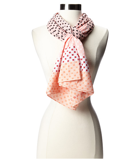 Marc by Marc Jacobs - Block Print Scarf (Adobe Pink Multi) Scarves