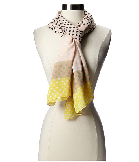 Marc by Marc Jacobs - Block Print Scarf (Pale Buff Multi) Scarves