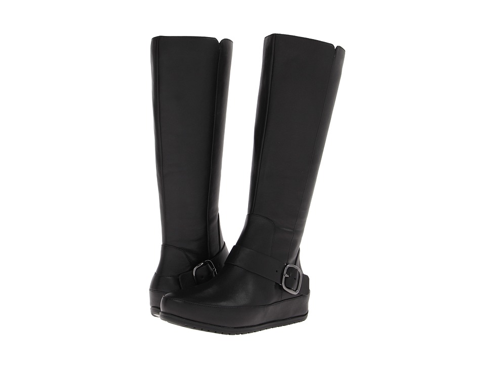 FitFlop - Due Boot Tall/Buckle (Black) Women