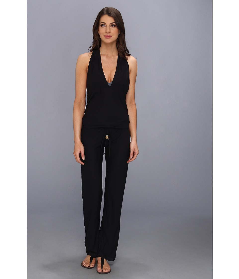 Luli Fama - Cosita Buena T-Back Long Jumpsuit Cover-Up (Black) Women's Jumpsuit & Rompers One Piece