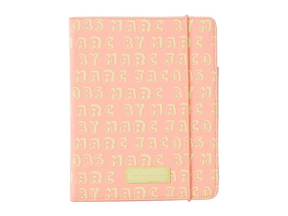 Marc by Marc Jacobs - Dynamite Logo Neoprene Tablet Notebook (Fluoro Coral Multi) Computer Bags