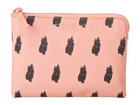 Marc by Marc Jacobs Pets Coated Canvas Mini Tablet Zip Case (Fluoro Coral Multi) Computer Bags