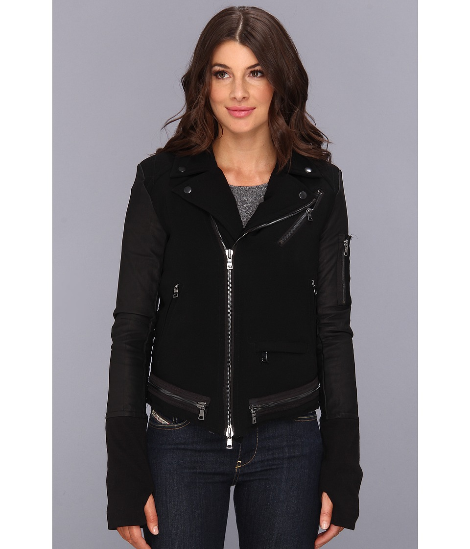 Hudson - Biker Jacket N 1 (Raw Black) Women's Coat