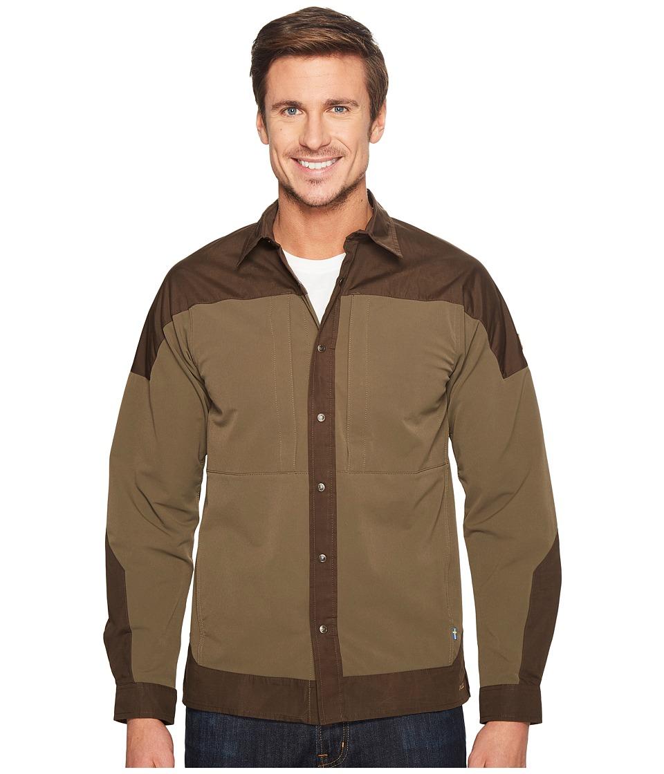 Fjallraven - Keb Trek Shirt L/S (Tarmac) Men's Long Sleeve Button Up
