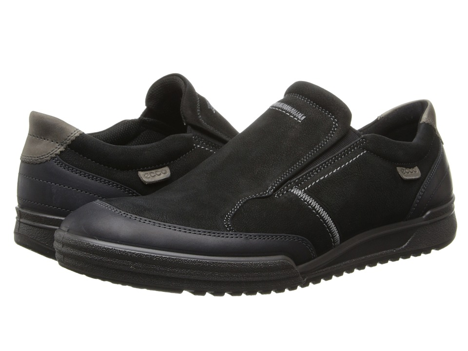 ECCO - Fraser Classic Slip On (Black/Black Sambal/Bukhara) Men