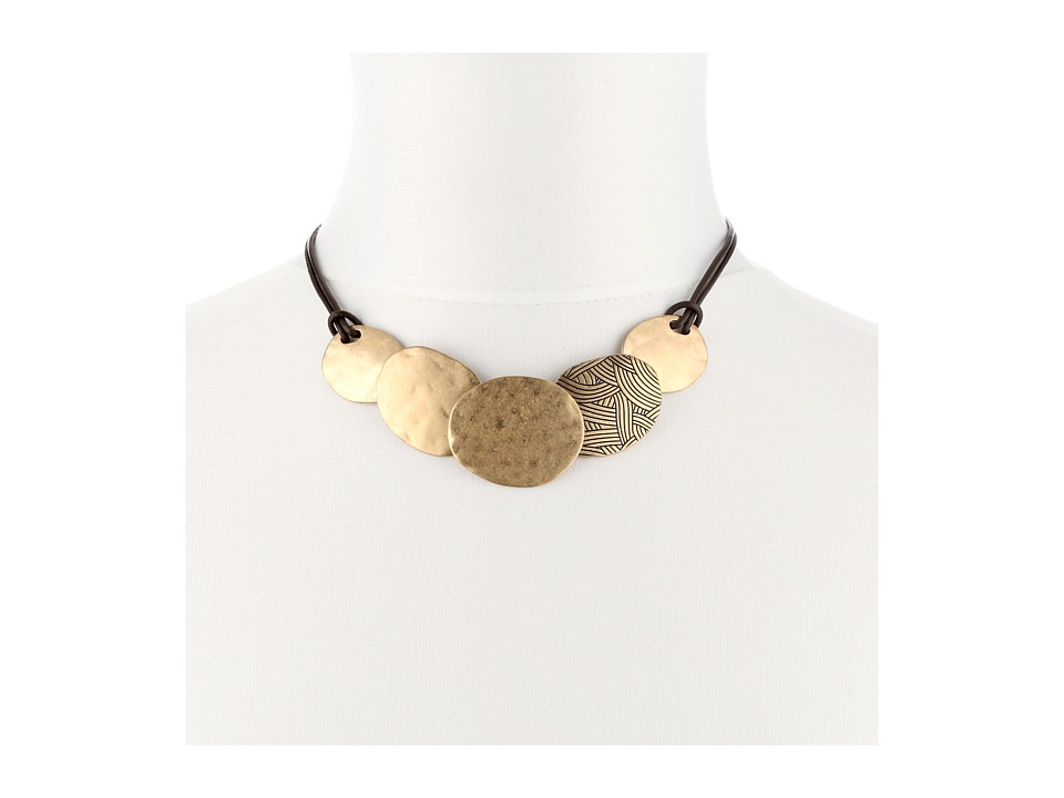 The Sak - Frontal Disc Necklace (Gold) Necklace