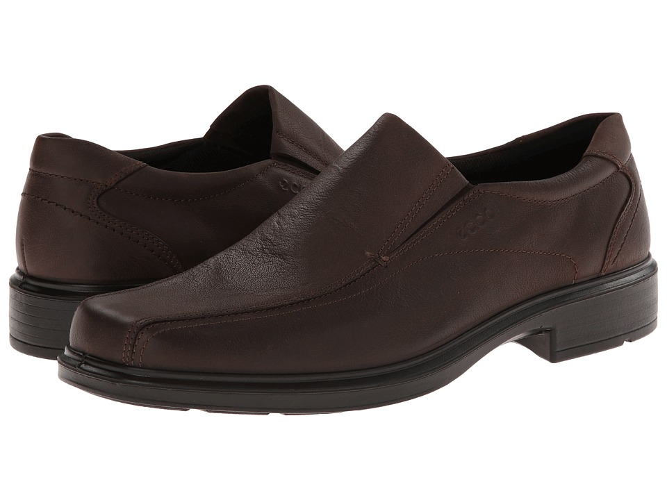 ECCO - Helsinki Slip On (Coffee White Mist) Men's Slip-on Dress Shoes
