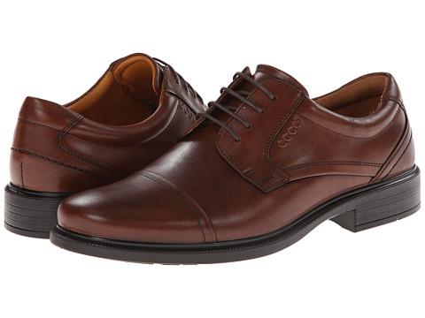 ECCO - Dublin Cap Toe Tie (Mink Kalahari) Men's Shoes