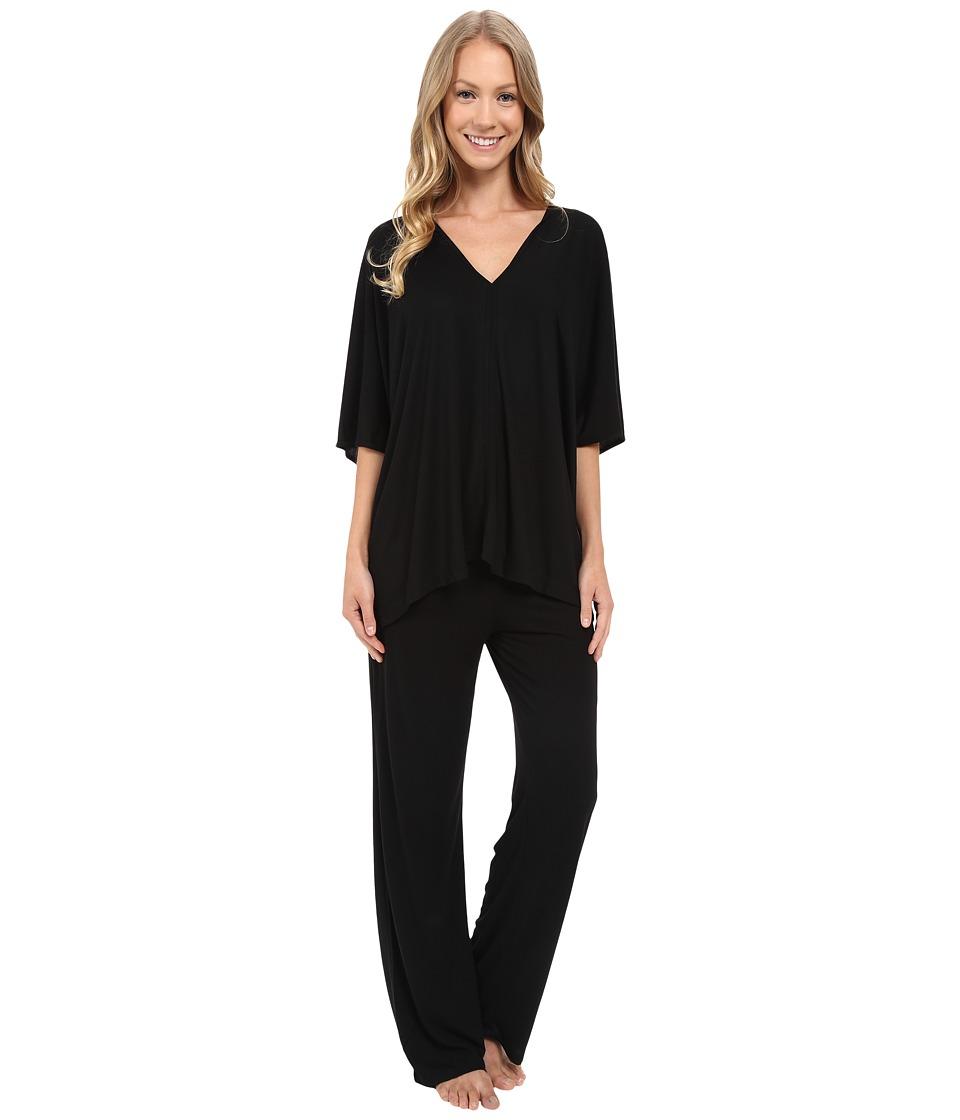 Natori - Shangri-La Tunic PJ (Black) Women's Pajama Sets