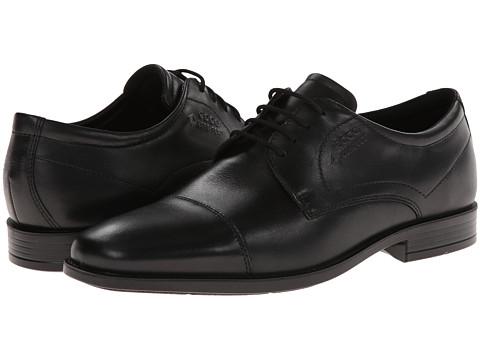 ECCO - Edinburgh Cap Toe Tie GTX (Black Luxe) Men