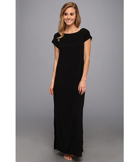 Natori - Shangri-La Long Nightgown (Black) Women