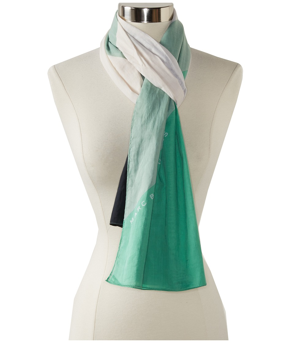 Marc by Marc Jacobs - Deco Printed Scarf (Dusty Jade Green Multi) Scarves