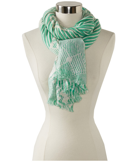 Marc by Marc Jacobs - Lame Matelasse Print Scarf (Dusty Jade Green Multi) Scarves