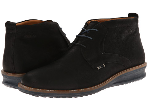 ECCO - Contoured Low Cut Boot (Black Starbuck) Men