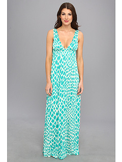 SALE! $65.99 - Save $39 on LAmade Print Empire Maxi Dress (Bermuda) Apparel - 37.15% OFF $105.00