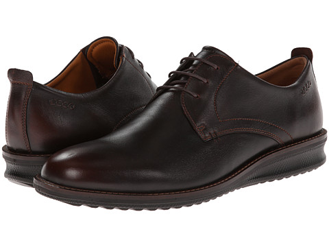 ECCO - Contoured Plain Toe Tie (Rust Revelation) Men